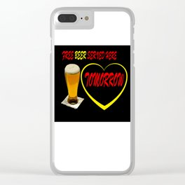 BEER FREE Clear iPhone Case