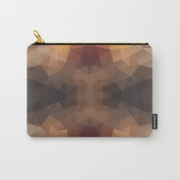 Kaleidoscopic design in soft brown colors Carry-All Pouch