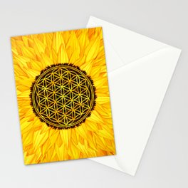 Flower of Life -Sunflower #1 Stationery Cards