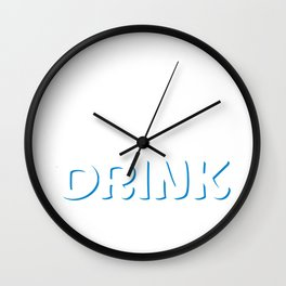 I'm a Manager I Need a Drink Stressed Out T-Shirt Wall Clock
