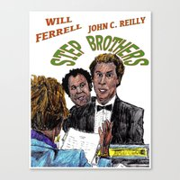 will ferrell Canvas Prints featuring Step Brothers by AdrockHoward