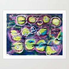Lime Pods Art Print
