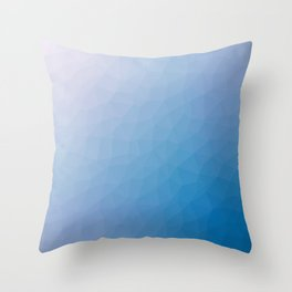 Blue flakes. Copos azules. Flocons bleus. Blaue flocken. Голубые хлопья. Throw Pillow
