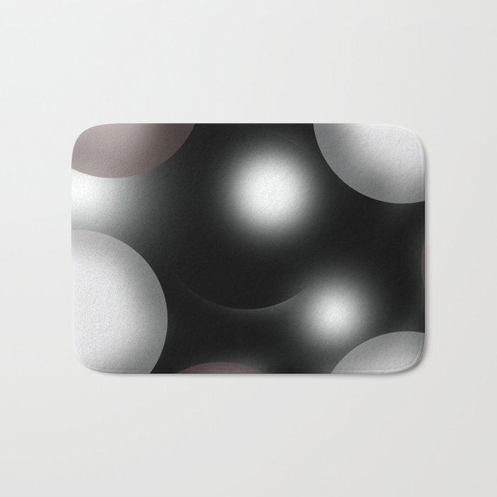 spherical space abstract geometrical digital painting Bath Mat