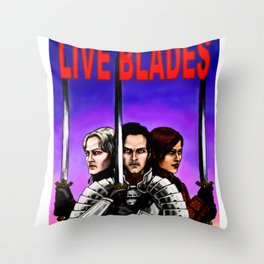 Live Blades cover Throw Pillow