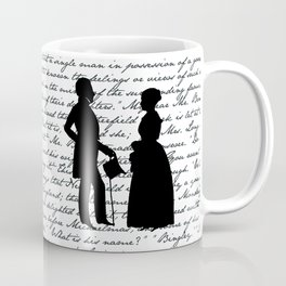 Pride and Prejudice design - White Coffee Mug