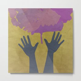 CANCER FREE (Pancreatic Cancer) Metal Print