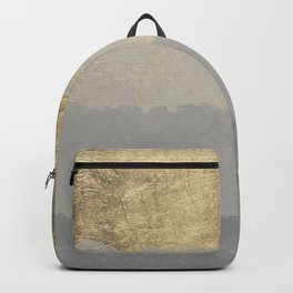 Geometrical ombre glacier gray gold watercolor Backpack