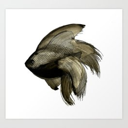 Deep water Fish Art Print