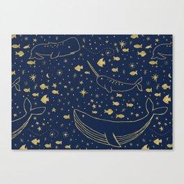 Celestial Ocean Canvas Print