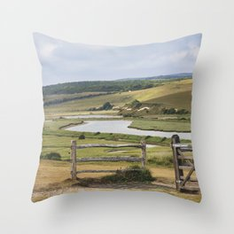 Seven Sisters Country Park, East Sussex, UK Throw Pillow
