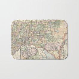 Vintage Map of Minnesota (1891) Bath Mat