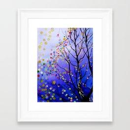 sparkling winter night sky Framed Art Print