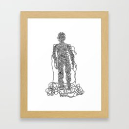 Knot Man Framed Art Print