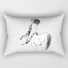 horses for courses III Rectangular Pillow