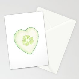 Cucumber Heart Stationery Cards