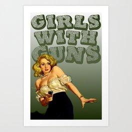 Girls with Guns Logo II Art Print