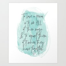 To Love... Art Print
