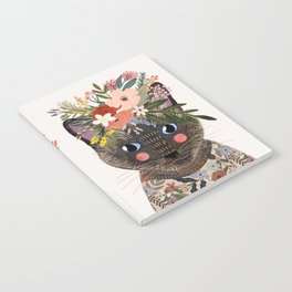 Siamese Cat with Flowers Notebook