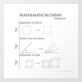 MathematicAlchemy - Geometry Art Print