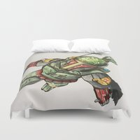 boba fett Duvet Covers featuring Boba Fett by Glen Howy