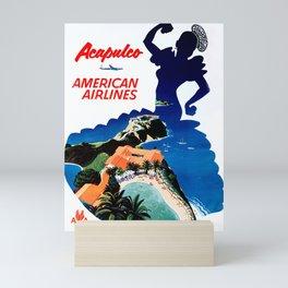 Acapulco - Vintage Air Travel Poster Mini Art Print