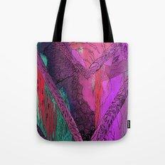Purple Chevron Trippyness Tote Bag