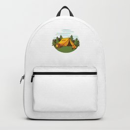 Camping Drinking Campers Travel Traveling Nature Let's Just Go Camp Gift Backpack