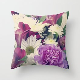 Timeless {Flower Floral Photography} Throw Pillow