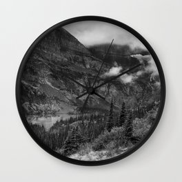 Grinnell Lake from the Trail No. 1 bw - Glacier NP Wall Clock