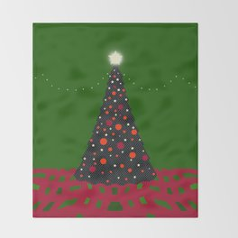Christmas Tree with Glowing Star Throw Blanket