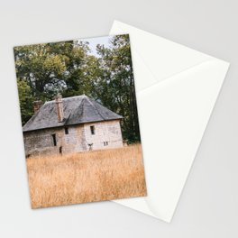 Old house on a field in france normandy Stationery Cards