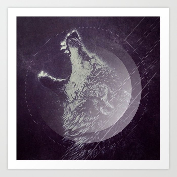 Abstract Wolf Art Print By Insomniathan