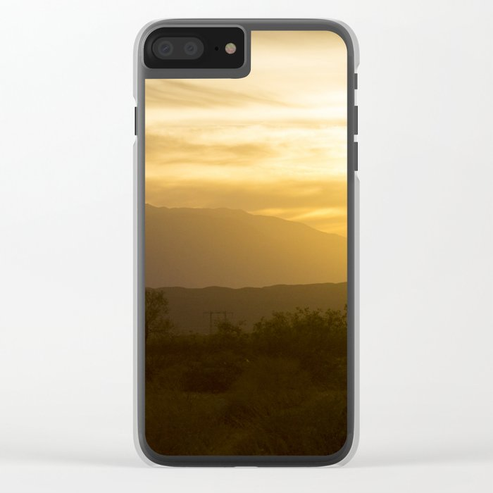 Desert Mountains Clear iPhone Case