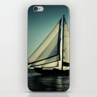 sailboat iPhone & iPod Skins featuring sailboat by laika in cosmos