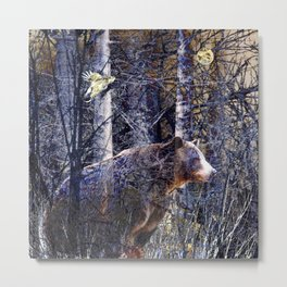Ghost Bear Metal Print