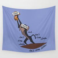 simba Wall Tapestries featuring Keep Calm: Simba by NomadicArt