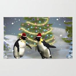 Funny penguin Rug