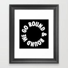 Round & Round Framed Art Print