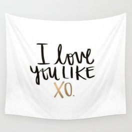 Love You Like Xo Wall Tapestry