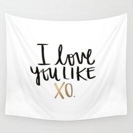 Love You Like Xo Wall Tapestry