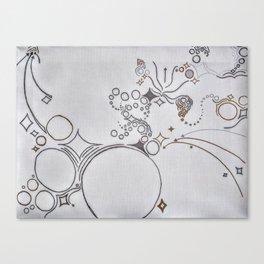 arrows diamonds and circles Canvas Print