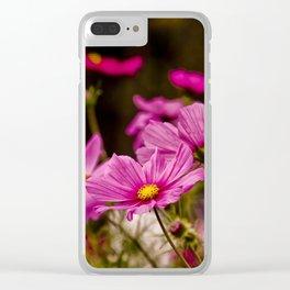 Cosmos Bipinnatus Clear iPhone Case