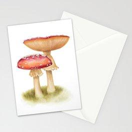 Mushroom Painting | Fly Agaric | AMANITA MASCARA | Watercolour Stationery Cards