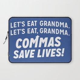COMMAS SAVE LIVES Laptop Sleeve