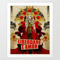 Liberdade e Amor Art Print