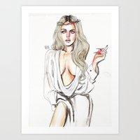 lindsay lohan Art Prints featuring Lindsay lohan by Lucas David
