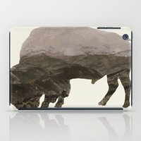 bison iPad Cases featuring Bison by Outdoor Bro