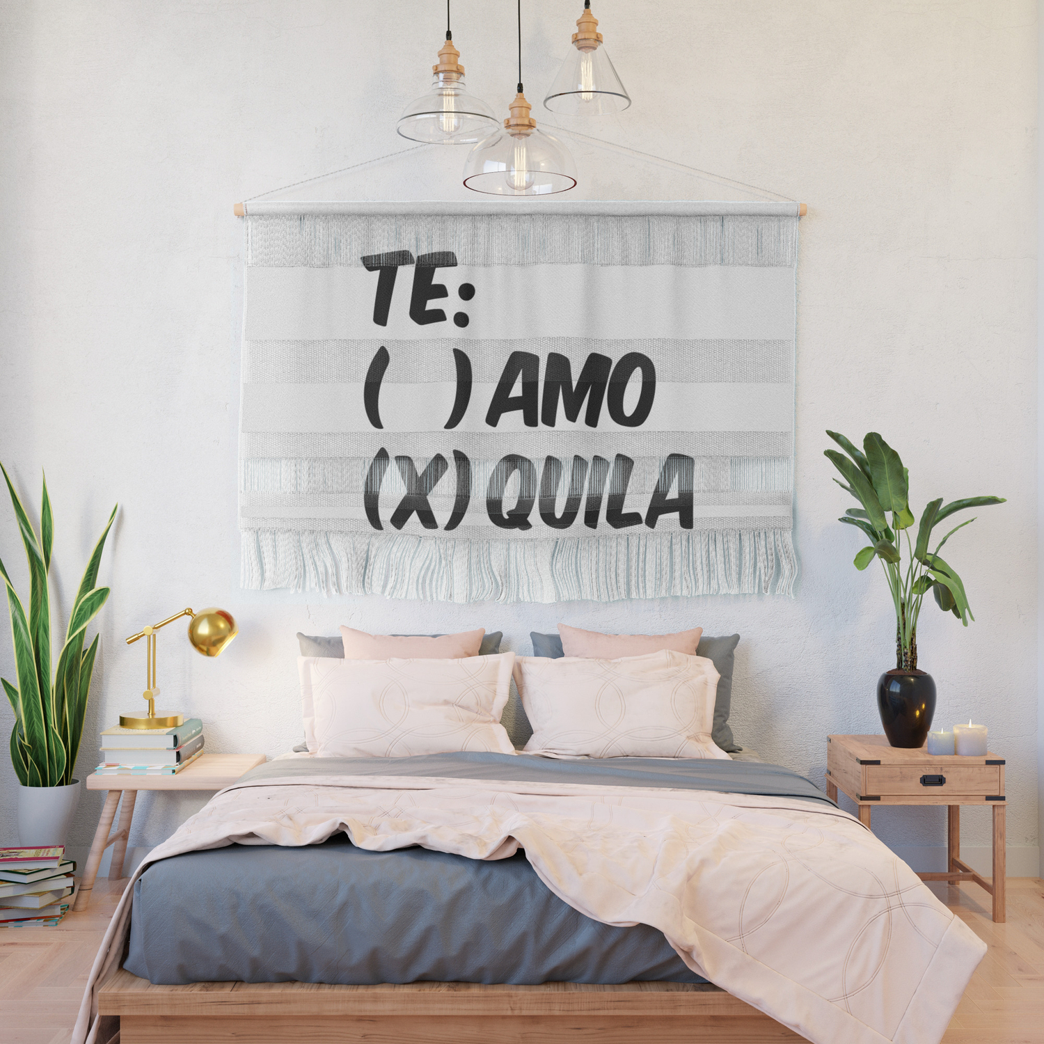 Details about  /Te Amor Te Quila Indoor Wall Tapestry Tequila Wall Decor
