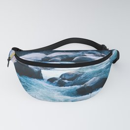 Running Water on River Rocks Fanny Pack